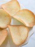 Biscoitos de Tuile em um pequeno carrinho quatro Foto de Stock Royalty Free