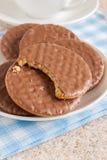 Biscoitos digestivos do chocolate Imagens de Stock