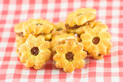 Biscoitos do abacaxi no fundo Fotos de Stock