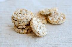 Biscoitos do arroz Foto de Stock Royalty Free