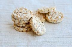 Biscoitos do arroz Fotos de Stock Royalty Free