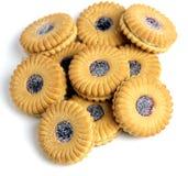 Biscoitos do atolamento em uma pilha Fotos de Stock Royalty Free