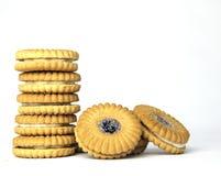 Biscoitos do atolamento em uma pilha Imagem de Stock