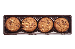 Biscoitos do chocolate com porcas Foto de Stock Royalty Free