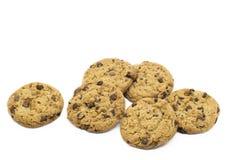 Biscoitos do chocolate no fundo isolado imagens de stock