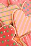 Biscoitos do coração fotos de stock