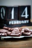 Biscoitos do dia de Valentine´s Fotografia de Stock