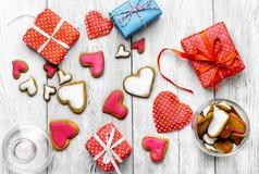 Biscoitos do dia do ` s do Valentim Imagem de Stock