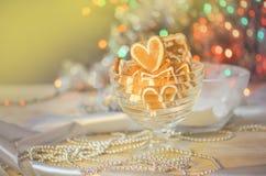 Biscoitos do dia do ` s do Valentim Cookie dada forma coração do Valentim foto de stock royalty free