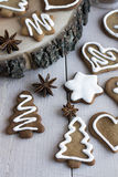 Biscoitos do gengibre para o Natal Fotografia de Stock