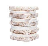 Biscoitos do milho isolados no fundo branco Imagem de Stock Royalty Free