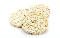 Biscoitos do milho no fundo branco isolado Fotografia de Stock Royalty Free