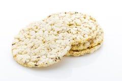 Biscoitos do milho no fundo branco isolado Fotografia de Stock