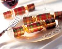 Biscoitos do Natal em um dinnerplate Foto de Stock