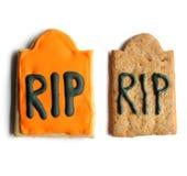 Biscoitos do pão-de-espécie de Dia das Bruxas foto de stock