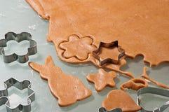 Biscoitos do pão-de-espécie do cozimento Fotografia de Stock