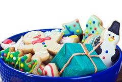 Biscoitos do pão-de-espécie do Natal Foto de Stock