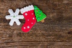 Biscoitos do pão-de-espécie do Natal Imagem de Stock Royalty Free