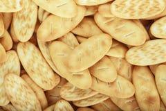 Biscoitos do petisco como um fundo Imagens de Stock Royalty Free