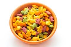 Biscoitos do petisco do peixe dourado Imagem de Stock