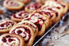 Biscoitos do redemoinho da porca da airela Imagens de Stock