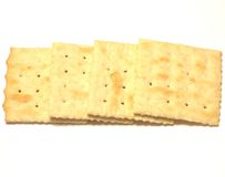 Biscoitos do Saltine fotos de stock royalty free