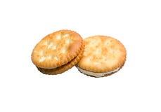 Biscoitos do sanduíche com creme Fotografia de Stock Royalty Free