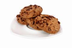 Biscoitos do T em uma placa Fotos de Stock Royalty Free