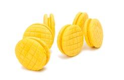 Biscoitos dobro amarelos do fruto isolados Fotos de Stock