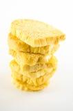 Biscoitos doces amarelos Fotografia de Stock