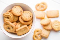 Biscoitos doces da manteiga Fotografia de Stock Royalty Free