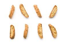 Biscoitos doces do cantuccini Biscotti italiano fotos de stock royalty free