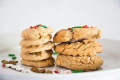 Biscoitos doces do Natal Fotos de Stock