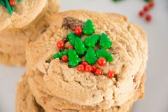 Biscoitos doces do Natal Imagens de Stock Royalty Free