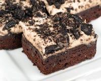 Biscoitos e brownies de creme Imagens de Stock