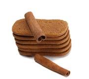 Biscoitos e canela Imagens de Stock