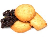 Biscoitos e chocolate cozidos Fotos de Stock