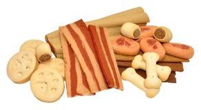 Biscoitos e deleites de cão Fotografia de Stock