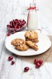 Biscoitos e leite doces Foto de Stock