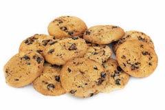 Biscoitos em um fundo branco imagem de stock
