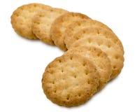 Biscoitos em um fundo branco Fotografia de Stock Royalty Free