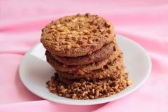Biscoitos em um fundo cor-de-rosa. Foto de Stock