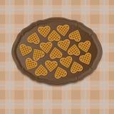 Biscoitos em uma bandeja Fotografia de Stock Royalty Free