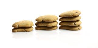 Biscoitos em uma fileira Foto de Stock