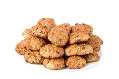 Biscoitos em uma placa branca Imagem de Stock
