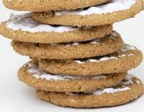 Biscoitos empilhados Fotografia de Stock
