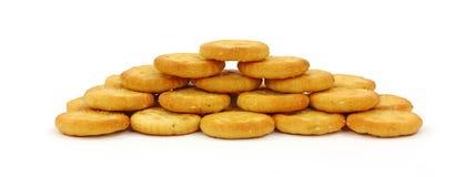 Biscoitos empilhados do tamanho da mordida Fotografia de Stock