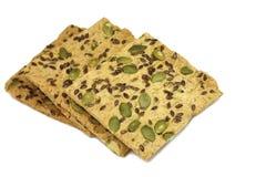 Biscoitos frescos com as sementes de alcaravia e de abóbora Foto de Stock