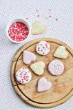 Biscoitos Heart-shaped fotografia de stock royalty free