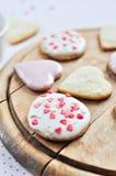Biscoitos Heart-shaped imagem de stock